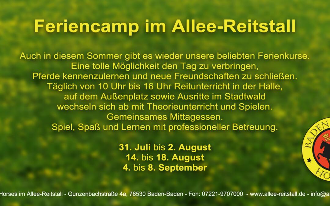 Feriencamps Sommer 2017